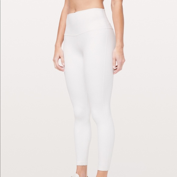 c9feb3955666f lululemon athletica Pants | Lululemon White Align Leggings | Poshmark